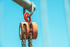 Strong used hoist Stock Photo