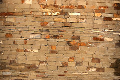 Strong wall from chipped stone Stock Image