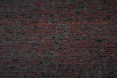 Strong wall made of baked bricks royalty free stock image