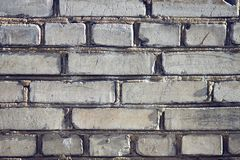 Strong wall of an ordinary house, built of bricks royalty free stock images