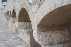 Strong walls in old town of Dubrovnik Stock Image