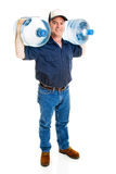 Strong Water Delivery Man Stock Photography