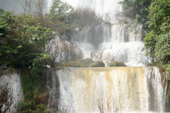 Strong Waterfall background Royalty Free Stock Photo