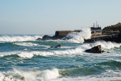Strong waves Stock Image