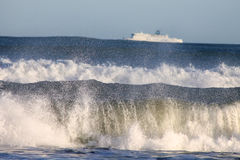 Strong waves in Wellington. Stock Photography