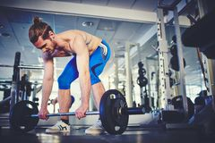 Strong weightlifter Royalty Free Stock Images