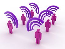 Strong Wi-Fi Signal Stock Images
