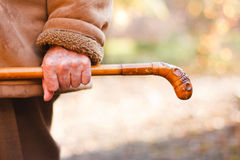 Strong will - elderly hands Royalty Free Stock Photos