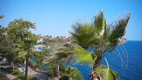 Strong wind of Antalya stock video