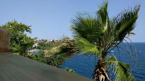 Strong wind of Antalya stock footage
