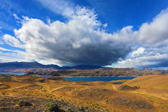 Strong winds in the Chilean Patagonia Royalty Free Stock Photo