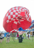 Strong Winds and a Hot Air Balloon Disaster Stock Photography