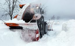 Strong winds and snow. PROTIVANOV, CZECH REPUBLIC, 14 FEBRUARY: Strong winds and snow caused the disaster on the roads near Protivanov by Prostejov on 16th Stock Images