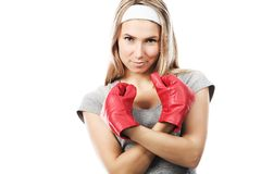 Strong woman Stock Images