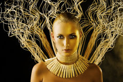 The strong woman Royalty Free Stock Image