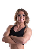 Strong woman body builder portrait Stock Photo