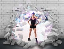 Strong woman bodybuilder Stock Image