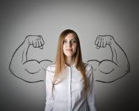 Strong woman concept. Royalty Free Stock Photos