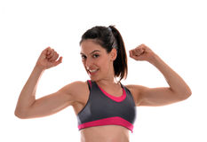 Strong woman. Stock Photo