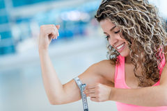 Strong woman at the gym Stock Image