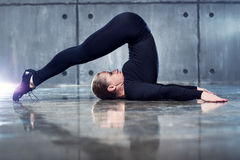Strong woman gymnast Royalty Free Stock Photo