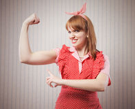 Housewife power Royalty Free Stock Image