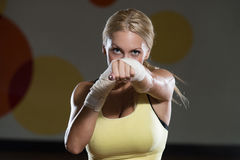 Strong Woman Mixed Martial Arts Fighter Stock Photography