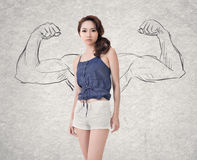 Strong woman Stock Photography
