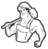 Strong worker Stock Images