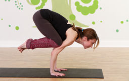 Strong Yoga Female Stock Image