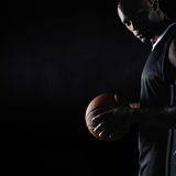 Strong young basketball player Stock Image