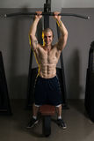 Strong Young Bodybuilder With Eight Pack royalty free stock photo