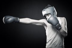 Strong young boxer Royalty Free Stock Image