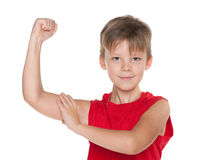 Strong young boy Stock Images