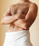 Strong young Caucasian man torso Stock Photography