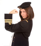 Strong young female officer Royalty Free Stock Images