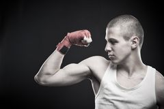 Strong young man Stock Photo
