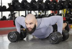 Strong young man doing push-ups, building muscles, living active healthy life. Stock footage Stock Photography