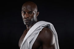 Strong young muscular man after workout Stock Photography