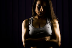 Strong, very fit young woman Stock Photos