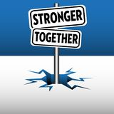 Stronger together plates Royalty Free Illustration