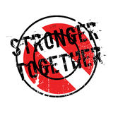 Stronger Together rubber stamp. Grunge design with dust scratches. Effects can be easily removed for a clean, crisp look. Color is easily changed Stock Photo