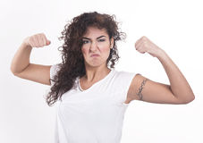 Strongest woman in the world Royalty Free Stock Photography