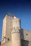 Stronghold. Tower of ancient Starkenburg Castle in Germany Stock Photography