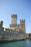 Stronghold. Old castle on Garda lake, Italy Royalty Free Stock Photos