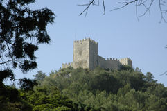 Stronghold. Ancient castle of Sesimbra, southern Portugal, E.U Royalty Free Stock Image