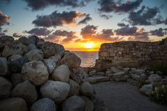 Stronghold in Apollonia National Park Stock Images