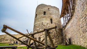 Stronghold. A defensive fortress in Izborsk Stock Images