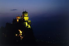 Stronghold at dusk Royalty Free Stock Image
