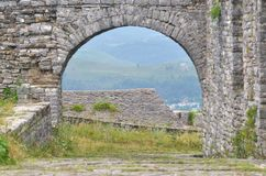 Stronghold in Gjirokaster, Albania Stock Photo